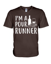I'M A POUR RUNNER - RUNNING SHIRTS V-Neck T-Shirt front