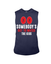 SOMEBODY'S GOT TO WATCH THE KIDS - RUNNING SHIRTS Sleeveless Tee front