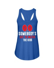 SOMEBODY'S GOT TO WATCH THE KIDS - RUNNING SHIRTS Ladies Flowy Tank front