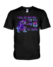 I WILL BE WAITING FOR YOU AT HOME V-Neck T-Shirt thumbnail