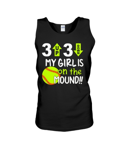 NEW MY GIRL IS ON THE MOUND SOFTBALL SHIRT