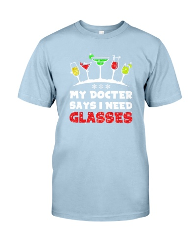 MY DOCTER SAYS I NEED GLASSES - WINE