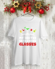 MY DOCTER SAYS I NEED GLASSES - WINE Classic T-Shirt lifestyle-holiday-crewneck-front-2