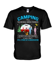 CAMPING WHEN YOU CAN WALK AMONG STRANGERS  V-Neck T-Shirt thumbnail
