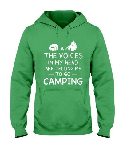 NEW THE VOICES IN MY HEAD CAMPING SHIRT