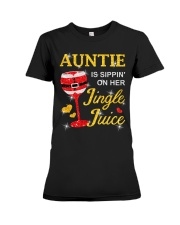 AUNTIE IS SIPPIN' ON HER JINGLE JUICE Premium Fit Ladies Tee thumbnail