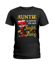 AUNTIE IS SIPPIN' ON HER JINGLE JUICE Ladies T-Shirt thumbnail