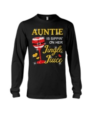 AUNTIE IS SIPPIN' ON HER JINGLE JUICE Long Sleeve Tee thumbnail