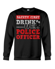 DRINK WITH POLICE OFFICER Crewneck Sweatshirt thumbnail