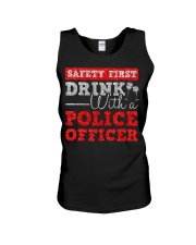 DRINK WITH POLICE OFFICER Unisex Tank thumbnail