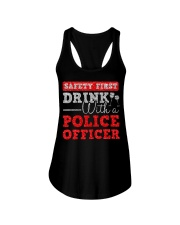 DRINK WITH POLICE OFFICER Ladies Flowy Tank thumbnail