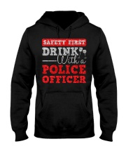 DRINK WITH POLICE OFFICER Hooded Sweatshirt thumbnail