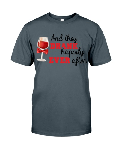 DRANK HAPPILY - WINE SHIRT