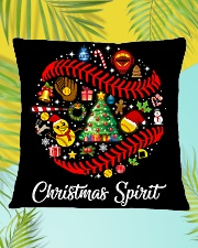 SOFTBALL PILLOW - LIMITED EDITION Square Pillowcase aos-pillow-square-front-lifestyle-30