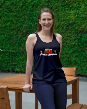 BEAGLE CAMPING AND WINE - LIMITED EDITION  Ladies Flowy Tank lifestyle-bellaflowy-tank-front-1
