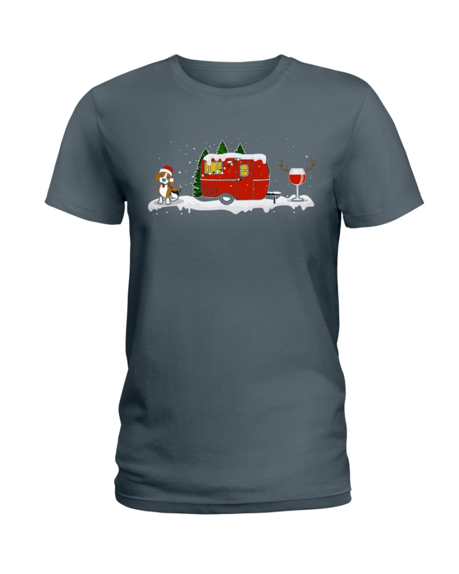 BEAGLE CAMPING AND WINE - LIMITED EDITION  Ladies T-Shirt