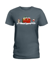 BEAGLE CAMPING AND WINE - LIMITED EDITION  Ladies T-Shirt front