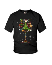CHIRSTMAS GRASS SNOW Youth T-Shirt tile