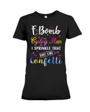 F BOMB CYCLING MOM Premium Fit Ladies Tee thumbnail