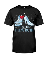 THIS GIRL LOVES THEM BOTH   Premium Fit Mens Tee thumbnail