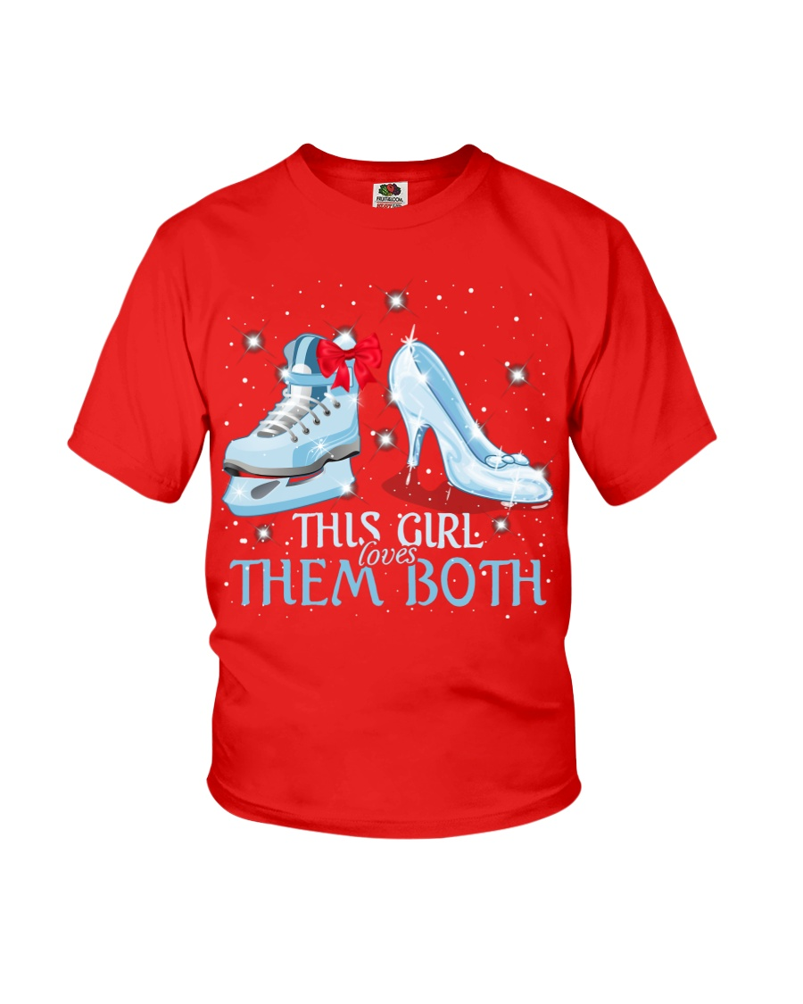THIS GIRL LOVES THEM BOTH   Youth T-Shirt
