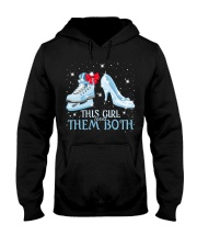 THIS GIRL LOVES THEM BOTH   Hooded Sweatshirt thumbnail