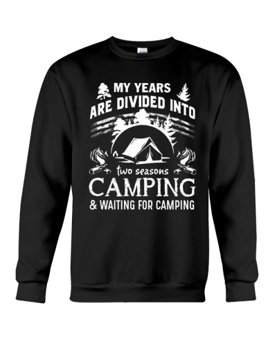 NEW MY YEARS ARE DIVED CAMPING SHIRT