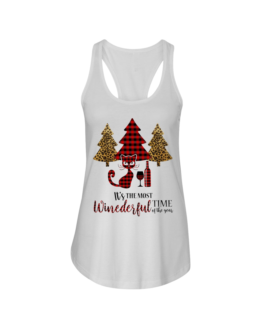 IT'S THE MOST WINEDERFUL TIME OF THE YEAR Ladies Flowy Tank