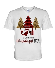 IT'S THE MOST WINEDERFUL TIME OF THE YEAR V-Neck T-Shirt front