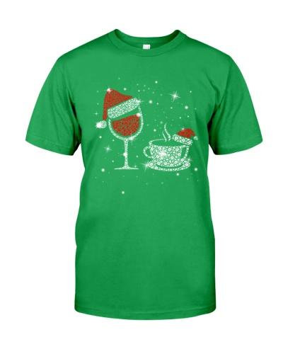 WINE AND COFFEE CHRISTMAS SHIRT