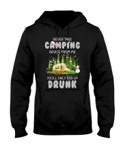NEVER TAKE CAMPING ADVICE FROM ME  Hooded Sweatshirt thumbnail