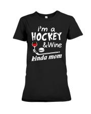 KINDA MOM - HOCKEY Premium Fit Ladies Tee thumbnail