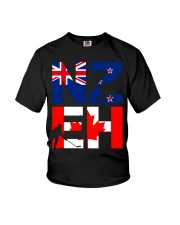 NEW ZEALAND AND CANADA Youth T-Shirt thumbnail