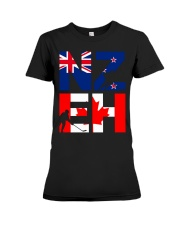 NEW ZEALAND AND CANADA Premium Fit Ladies Tee thumbnail