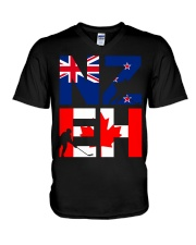 NEW ZEALAND AND CANADA V-Neck T-Shirt tile