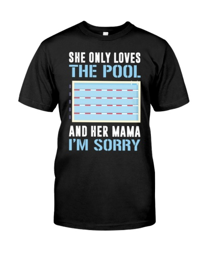 NEW SHE ONLY LOVES THE POOL SWIMMING SHIRT