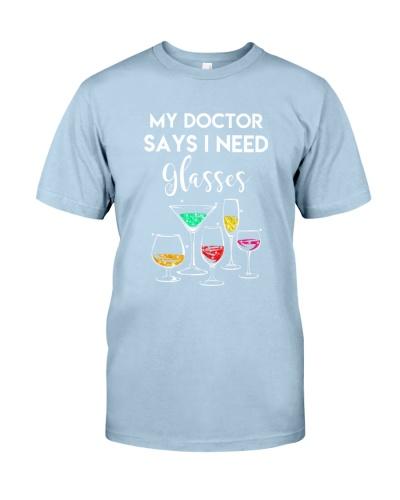 MY DOCTOR SAYS I NEED GLASSES - WINE