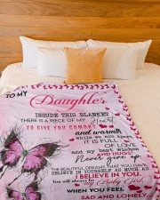 """To My Daughter Inside This Blanket There Is A Piec Large Fleece Blanket - 60"""" x 80"""" aos-coral-fleece-blanket-60x80-lifestyle-front-02a"""