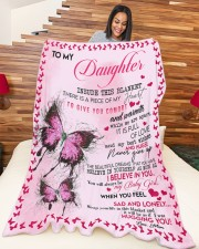 """To My Daughter Inside This Blanket There Is A Piec Large Fleece Blanket - 60"""" x 80"""" aos-coral-fleece-blanket-60x80-lifestyle-front-04a"""