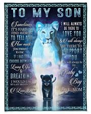 Lion To My Son Fleece Blanket tile
