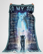 """Lion To My Son Large Fleece Blanket - 60"""" x 80"""" aos-coral-fleece-blanket-60x80-lifestyle-front-10"""