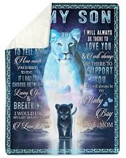 Lion To My Son Sherpa Fleece Blanket tile