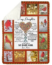 """To my Daughter Large Sherpa Fleece Blanket - 60"""" x 80"""" front"""