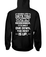 IT'S ONLY ONE DOWN THE REST IS UP Hooded Sweatshirt thumbnail
