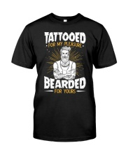TATTOOED FOR MY PLEASURE BEARDED FOR YOURS Premium Fit Mens Tee thumbnail