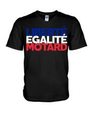 Liberte - Egalite - Motard V-Neck T-Shirt thumbnail