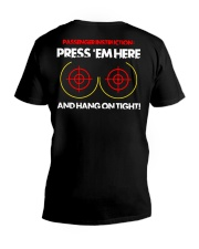 PRESS 'EM HERE AND HANG ON TIGHT V-Neck T-Shirt thumbnail