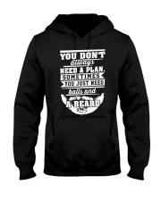 YOU JUST NEED BALLS AND BEARD Hooded Sweatshirt thumbnail