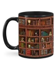 Library Book Shelf Mug back