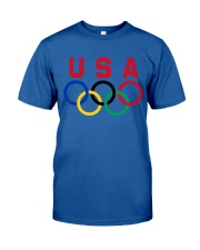 USA T-shirt Olympic rings Classic T-Shirt front